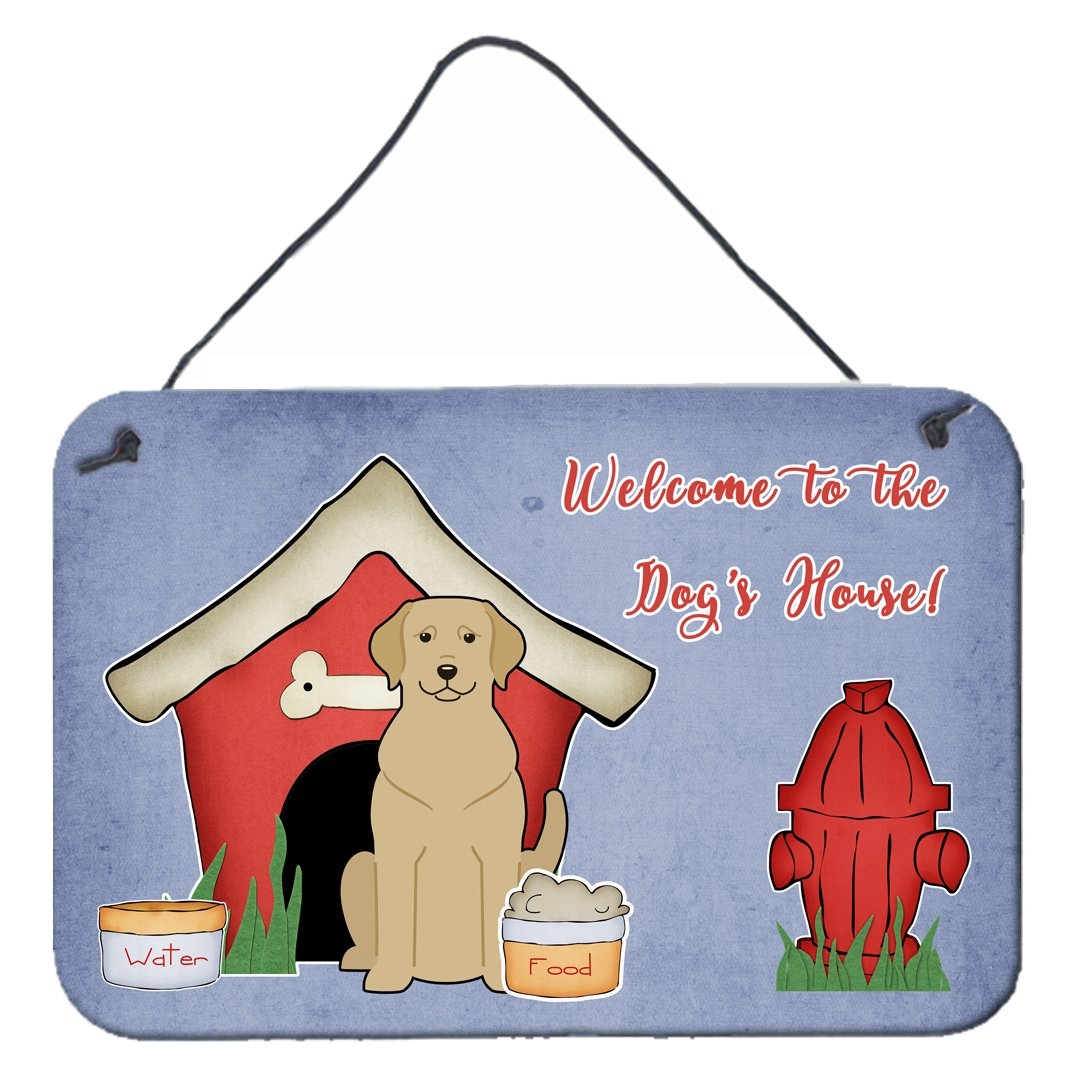 Buy this Dog House Collection Yellow Labrador Wall or Door Hanging Prints