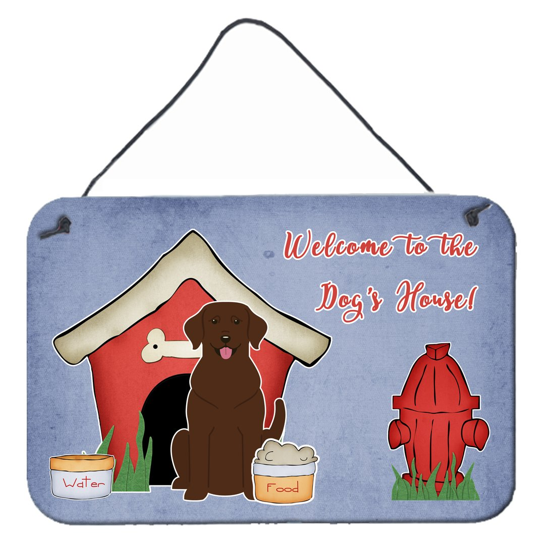 Dog House Collection Chocolate Labrador Wall or Door Hanging Prints by Caroline's Treasures