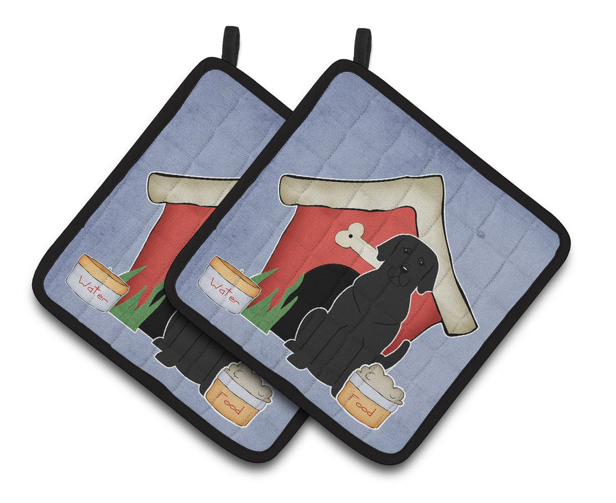 Buy this Dog House Collection Black Labrador Pair of Pot Holders