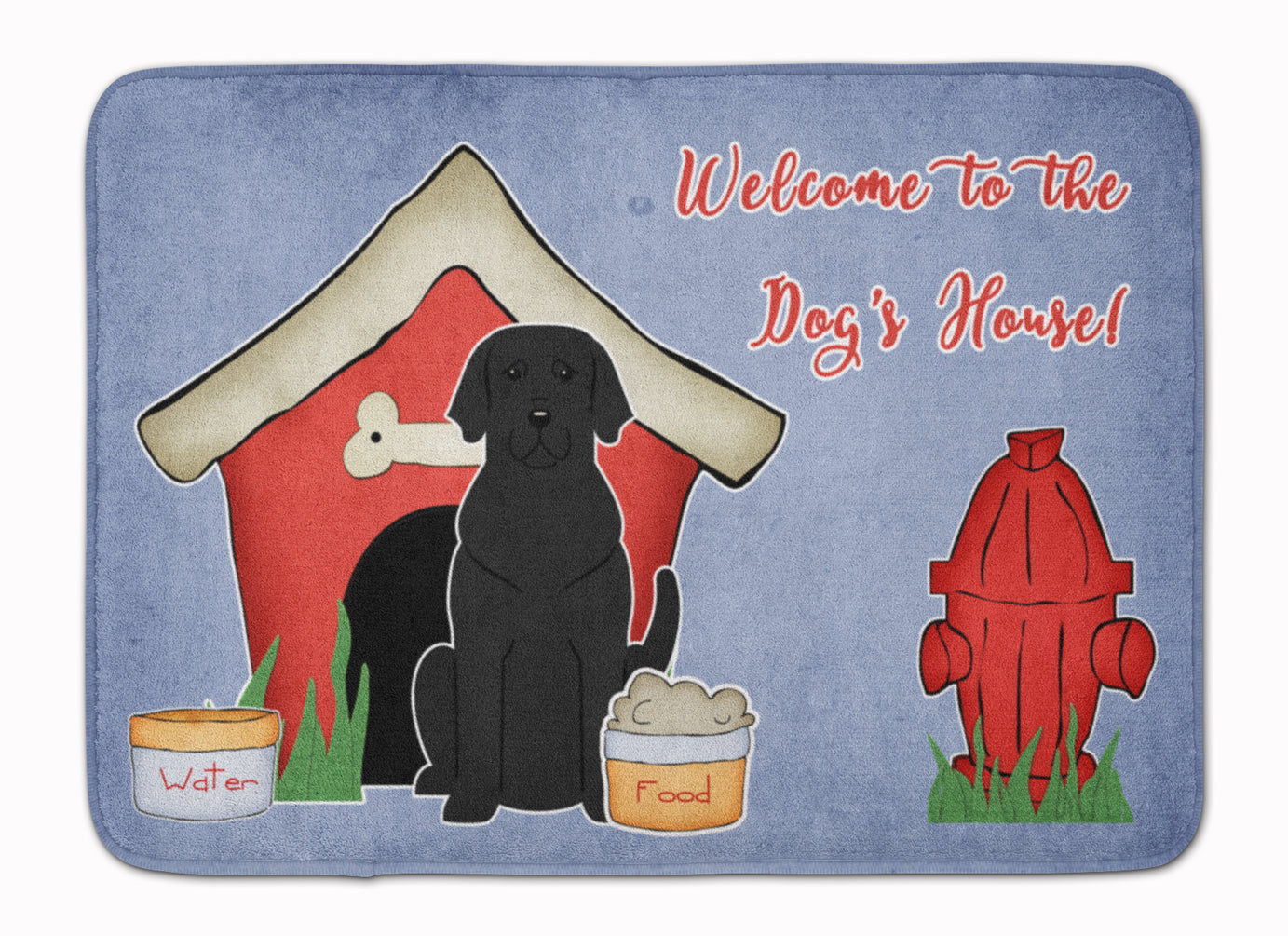 Dog House Collection Black Labrador Machine Washable Memory Foam Mat BB2811RUG by Caroline's Treasures