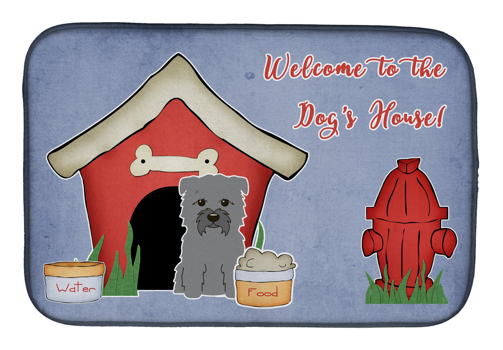 Dog House Collection Glen of Imal Grey Dish Drying Mat BB2813DDM by Caroline's Treasures