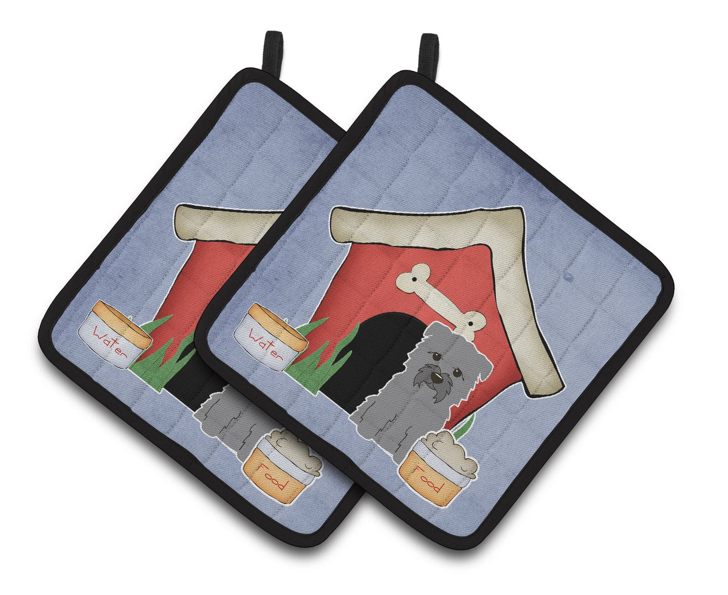 Buy this Dog House Collection Glen of Imal Grey Pair of Pot Holders