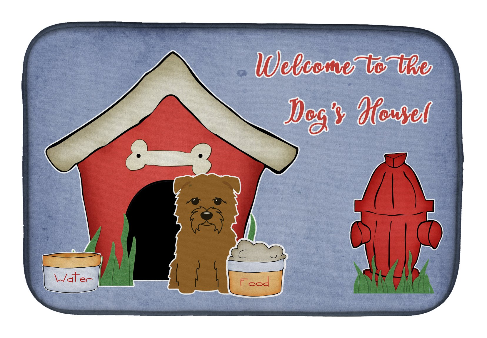 Dog House Collection Glen of Imal Tan Dish Drying Mat BB2814DDM by Caroline's Treasures