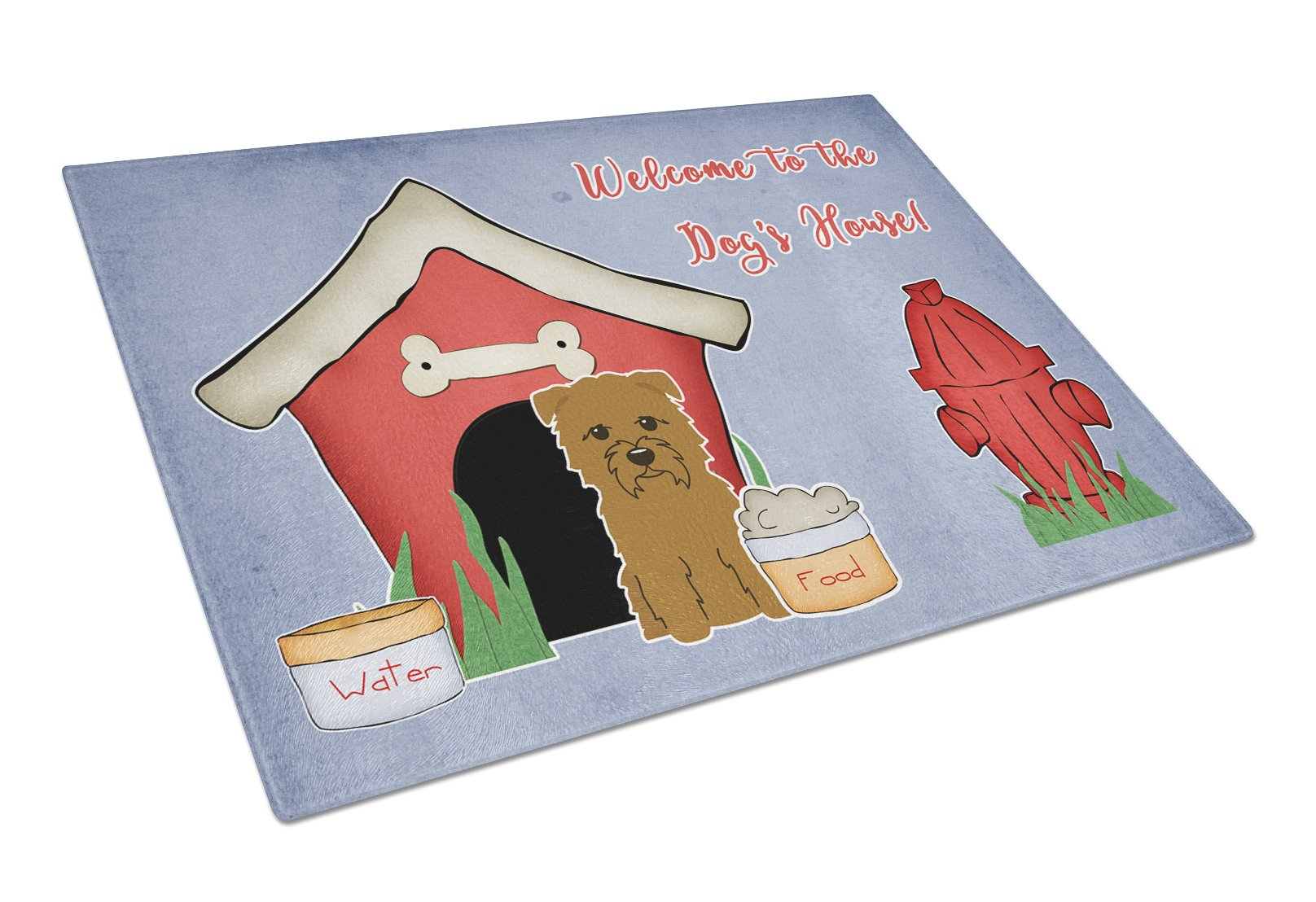 Buy this Dog House Collection Glen of Imal Tan Glass Cutting Board Large BB2814LCB