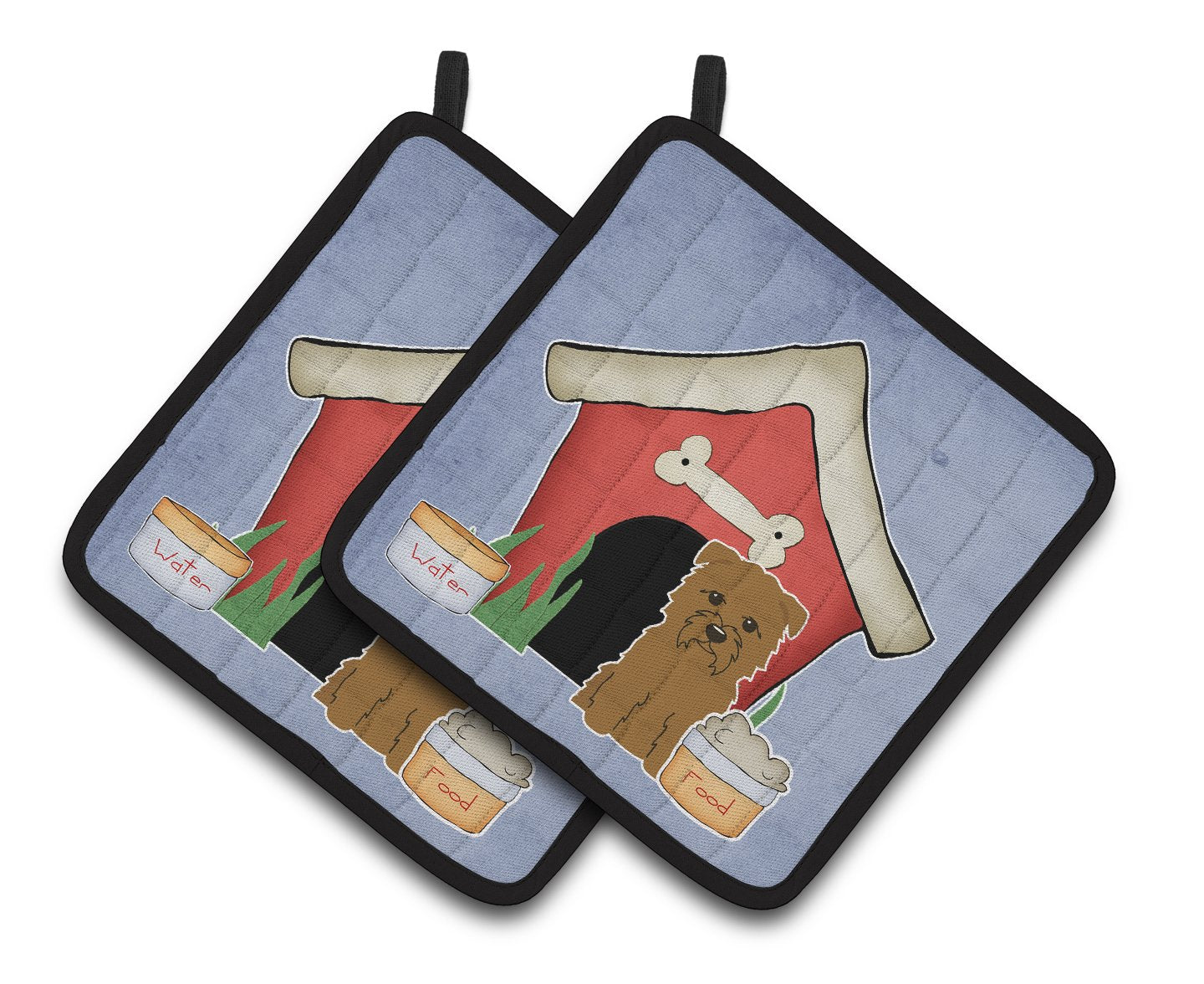 Buy this Dog House Collection Glen of Imal Tan Pair of Pot Holders BB2814PTHD