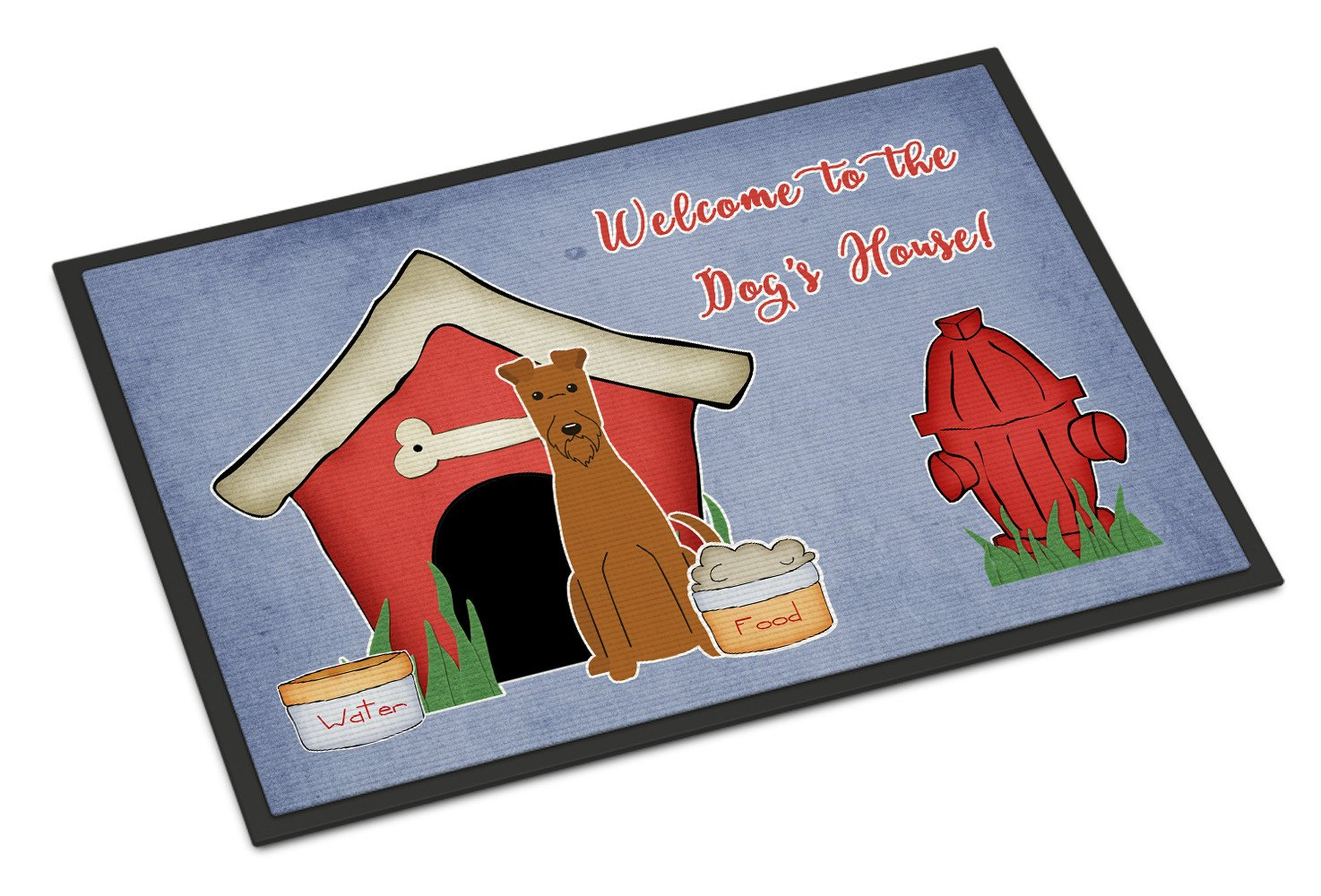 Dog House Collection Irish Terrier Indoor or Outdoor Mat 18x27 BB2816MAT by Caroline's Treasures