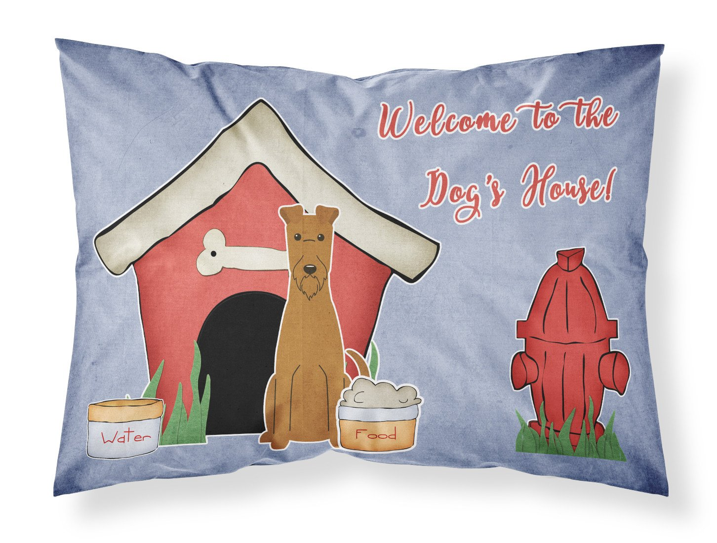 Dog House Collection Irish Terrier Fabric Standard Pillowcase BB2816PILLOWCASE by Caroline's Treasures