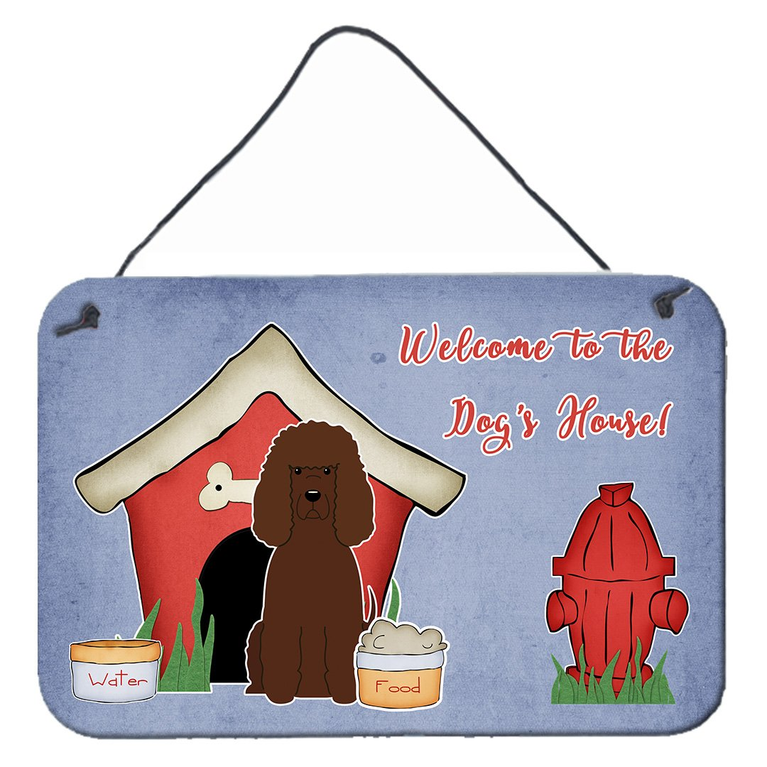 Buy this Dog House Collection Irish Water Spaniel Wall or Door Hanging Prints BB2817DS812