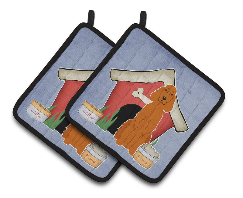 Buy this Dog House Collection Irish Setter Pair of Pot Holders