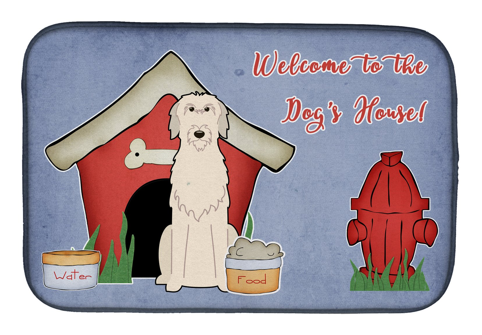 Dog House Collection Irish Wolfhound Dish Drying Mat BB2819DDM by Caroline's Treasures