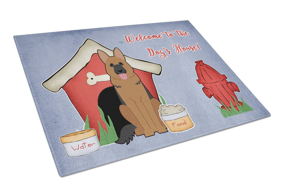 Buy this Dog House Collection German Shepherd Glass Cutting Board Large BB2821LCB