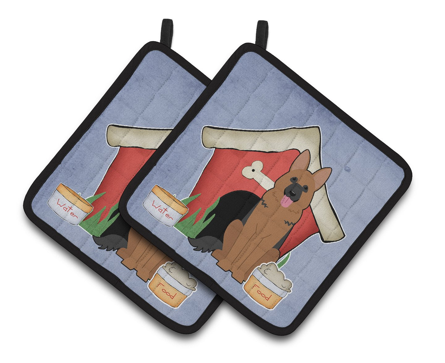 Buy this Dog House Collection German Shepherd Pair of Pot Holders
