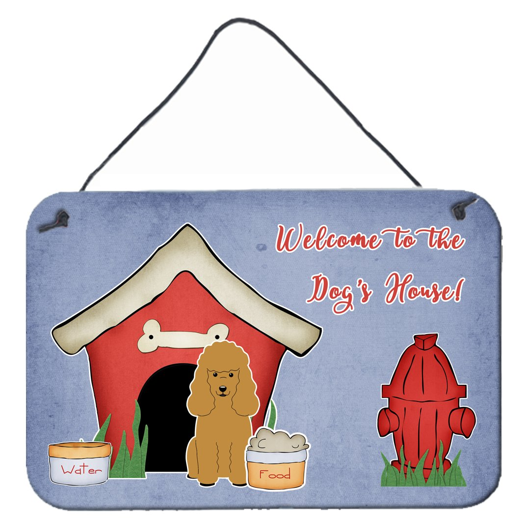 Dog House Collection Poodle Tan Wall or Door Hanging Prints by Caroline's Treasures