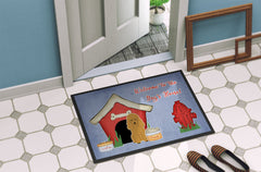 Dog House Collection Poodle Tan Indoor or Outdoor Mat 24x36 BB2823JMAT