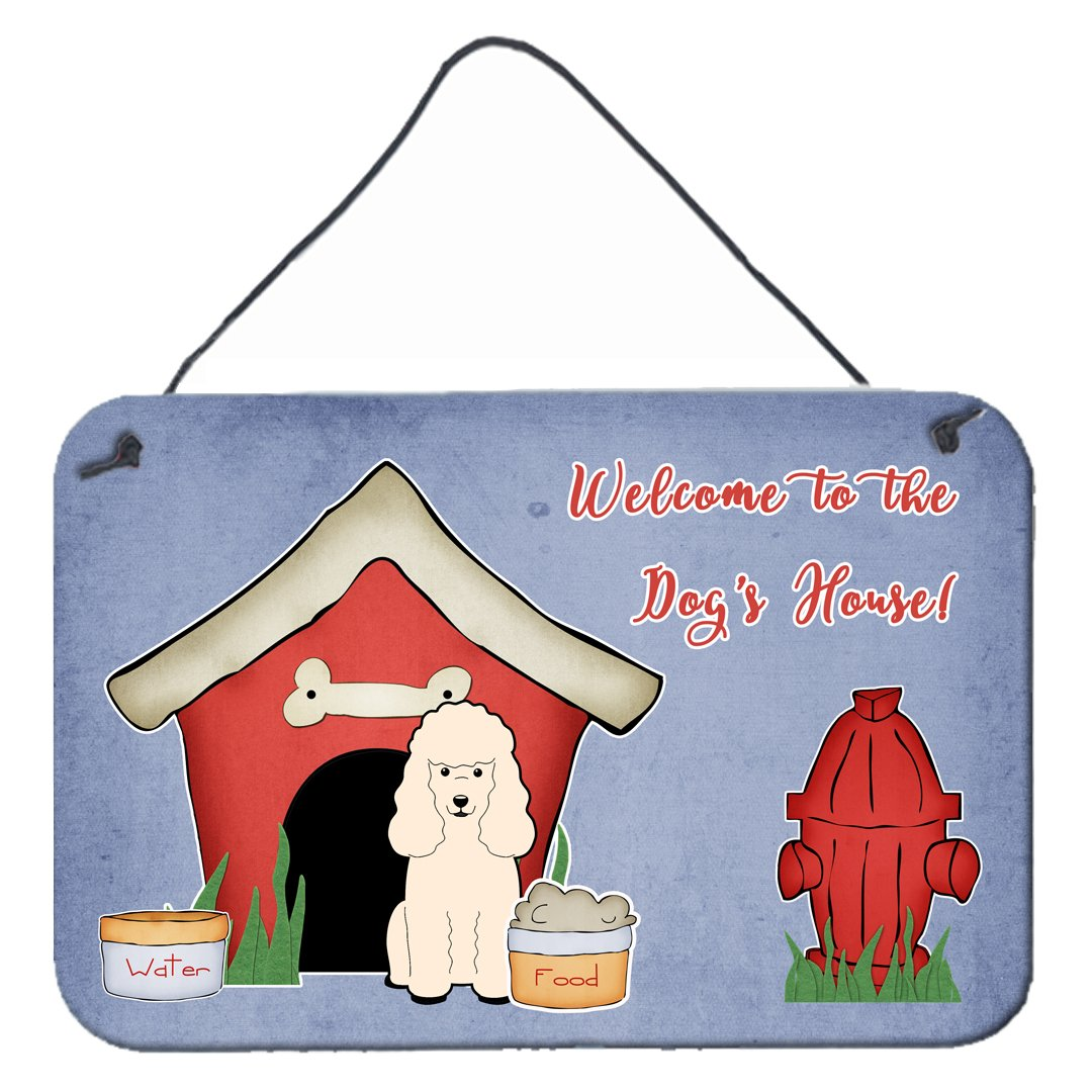 Dog House Collection Poodle White Wall or Door Hanging Prints BB2824DS812 by Caroline's Treasures