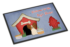 Buy this Dog House Collection Papillon Red White Indoor or Outdoor Mat 24x36 BB2832JMAT
