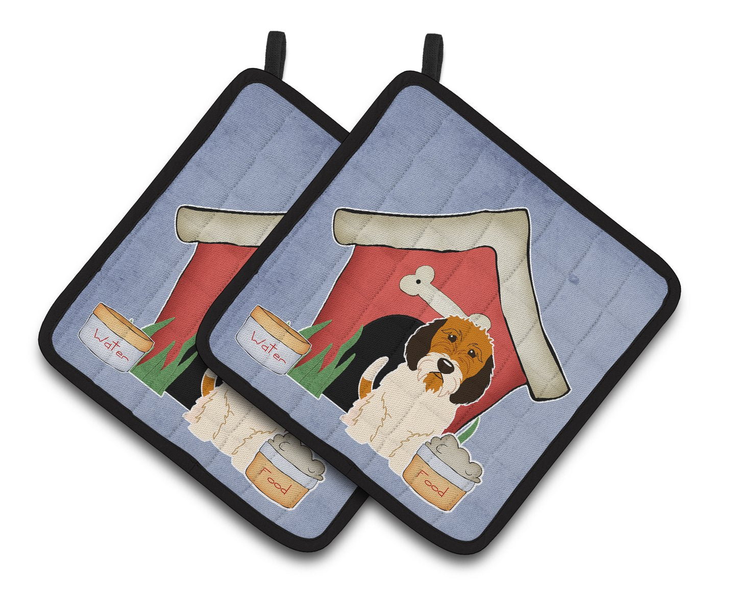 Buy this Dog House Collection Petit Basset Griffon Veenden Pair of Pot Holders