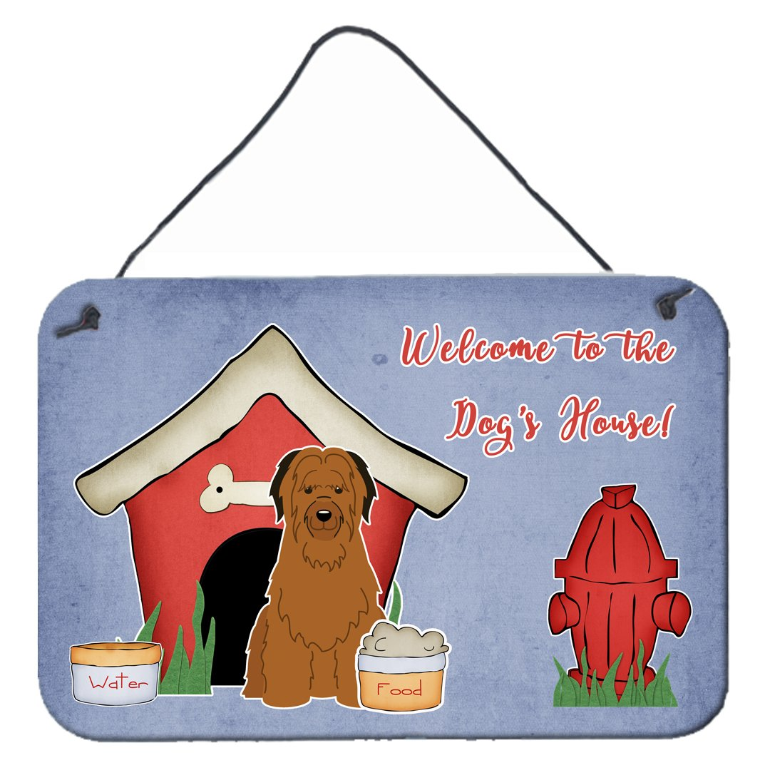 Dog House Collection Briard Brown Wall or Door Hanging Prints by Caroline's Treasures