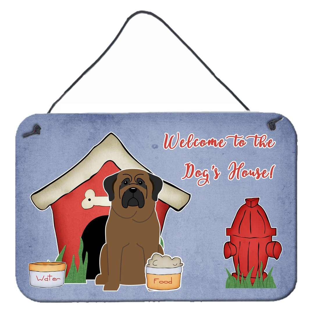 Dog House Collection Bullmastiff Wall or Door Hanging Prints by Caroline's Treasures