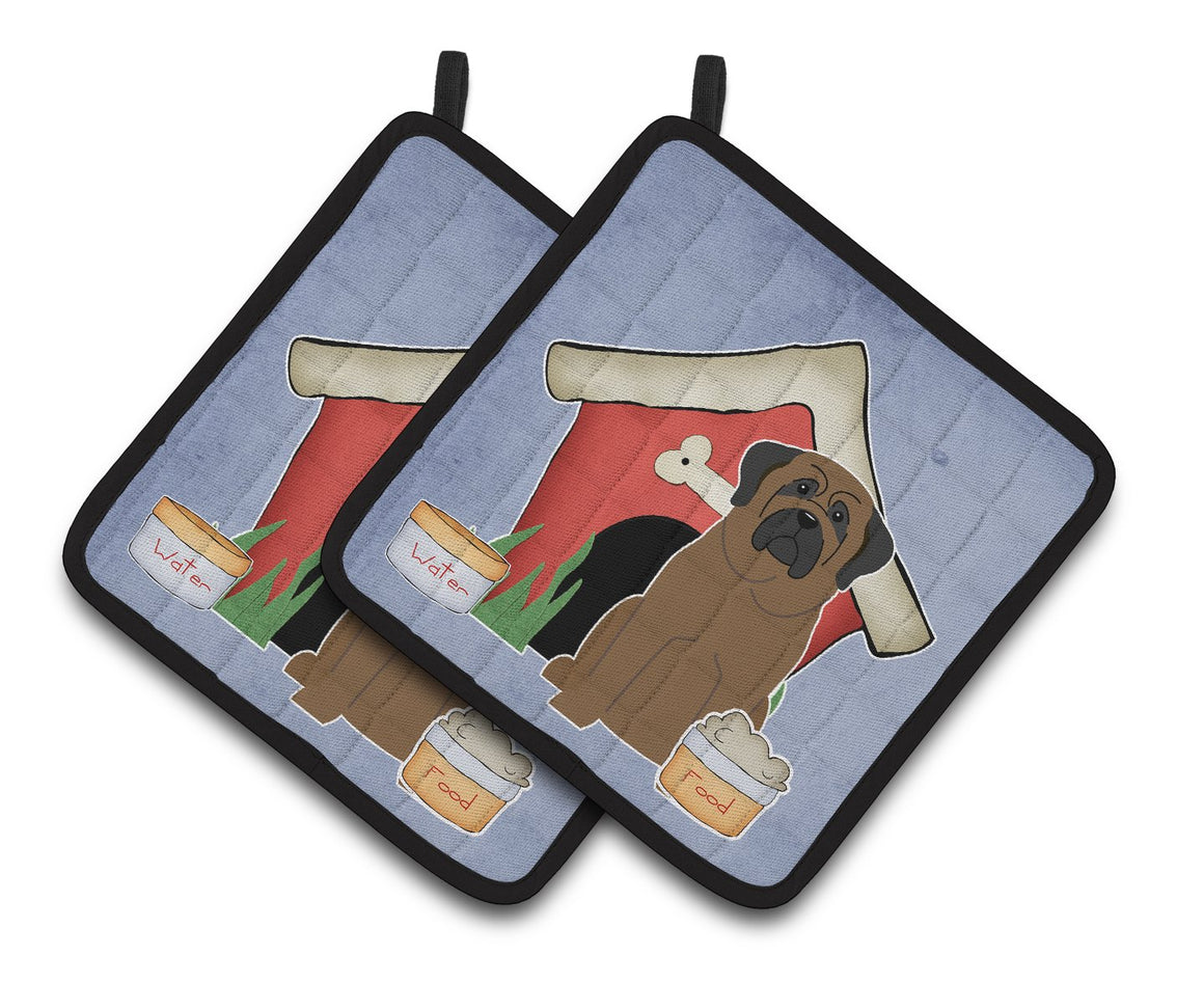 Buy this Dog House Collection Bullmastiff Pair of Pot Holders BB2838PTHD