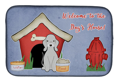 Buy this Dog House Collection Bedlington Terrier Blue Dish Drying Mat BB2844DDM