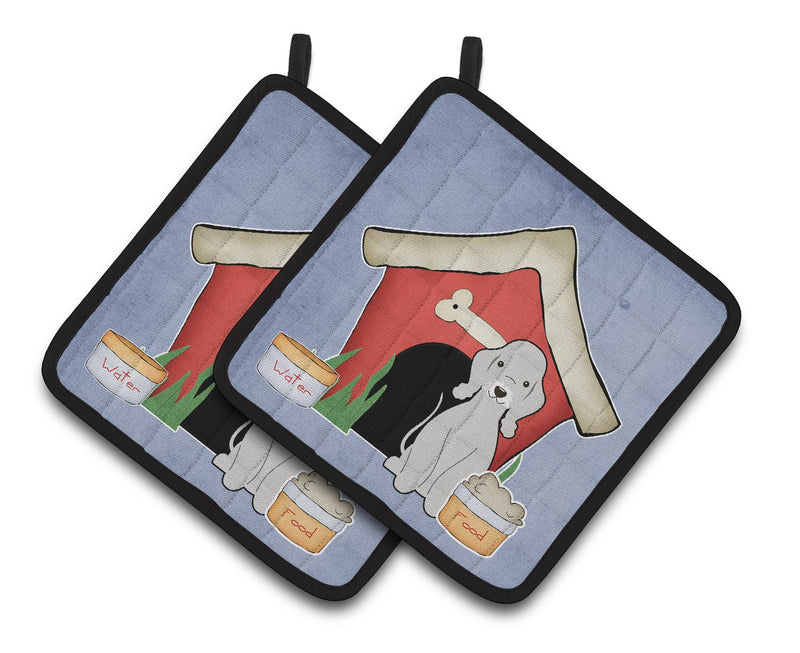 Buy this Dog House Collection Bedlington Terrier Blue Pair of Pot Holders