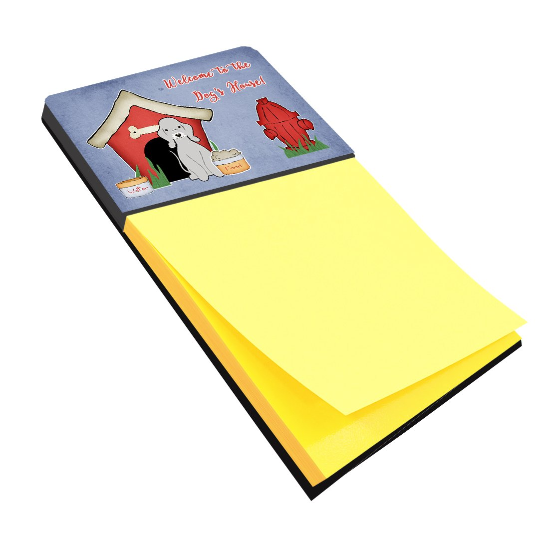 Buy this Dog House Collection Bedlington Terrier Blue Sticky Note Holder BB2844SN