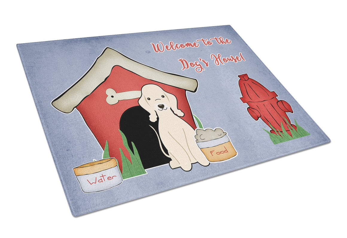 Buy this Dog House Collection Bedlington Terrier Sandy Glass Cutting Board Large BB2845LCB