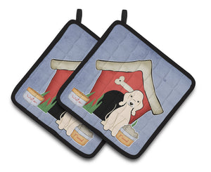 Buy this Dog House Collection Bedlington Terrier Sandy Pair of Pot Holders BB2845PTHD