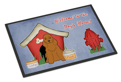 Buy this Dog House Collection Cocker Spaniel Red Indoor or Outdoor Mat 24x36 BB2849JMAT