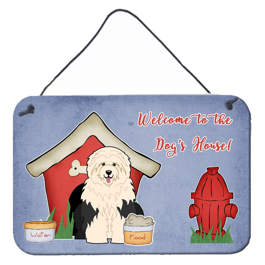 Buy this Dog House Collection Old English Sheepdog Wall or Door Hanging Prints