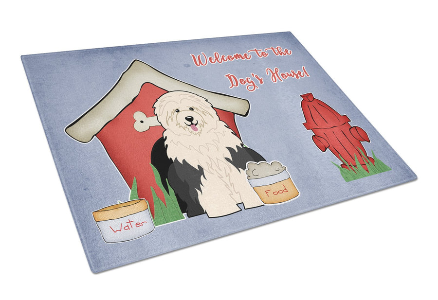 Buy this Dog House Collection Old English Sheepdog Glass Cutting Board Large BB2850LCB