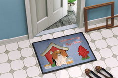 Dog House Collection Pekingnese Red White Indoor or Outdoor Mat 24x36 BB2857JMAT