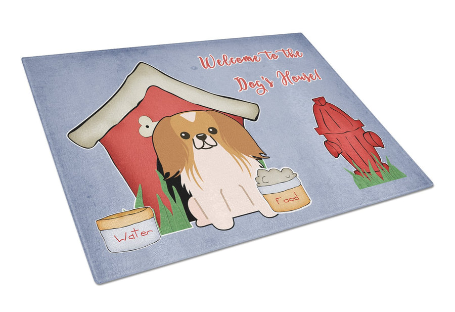 Buy this Dog House Collection Pekingnese Red White Glass Cutting Board Large BB2857LCB
