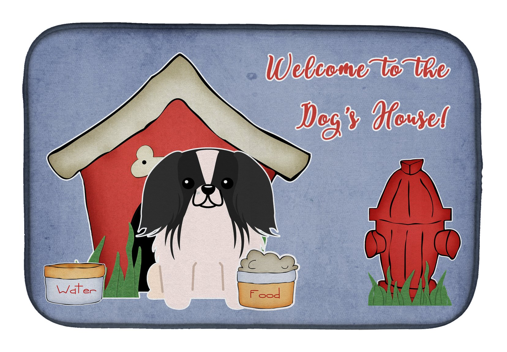 Dog House Collection Pekingnese Black White Dish Drying Mat BB2859DDM by Caroline's Treasures