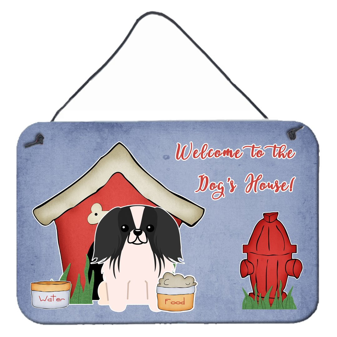 Dog House Collection Pekingnese Black White Wall or Door Hanging Prints by Caroline's Treasures