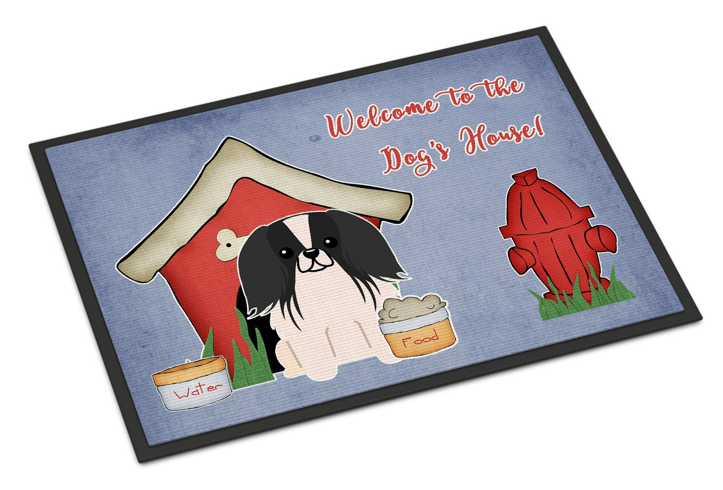 Dog House Collection Pekingnese Black White Indoor or Outdoor Mat 18x27 BB2859MAT - the-store.com