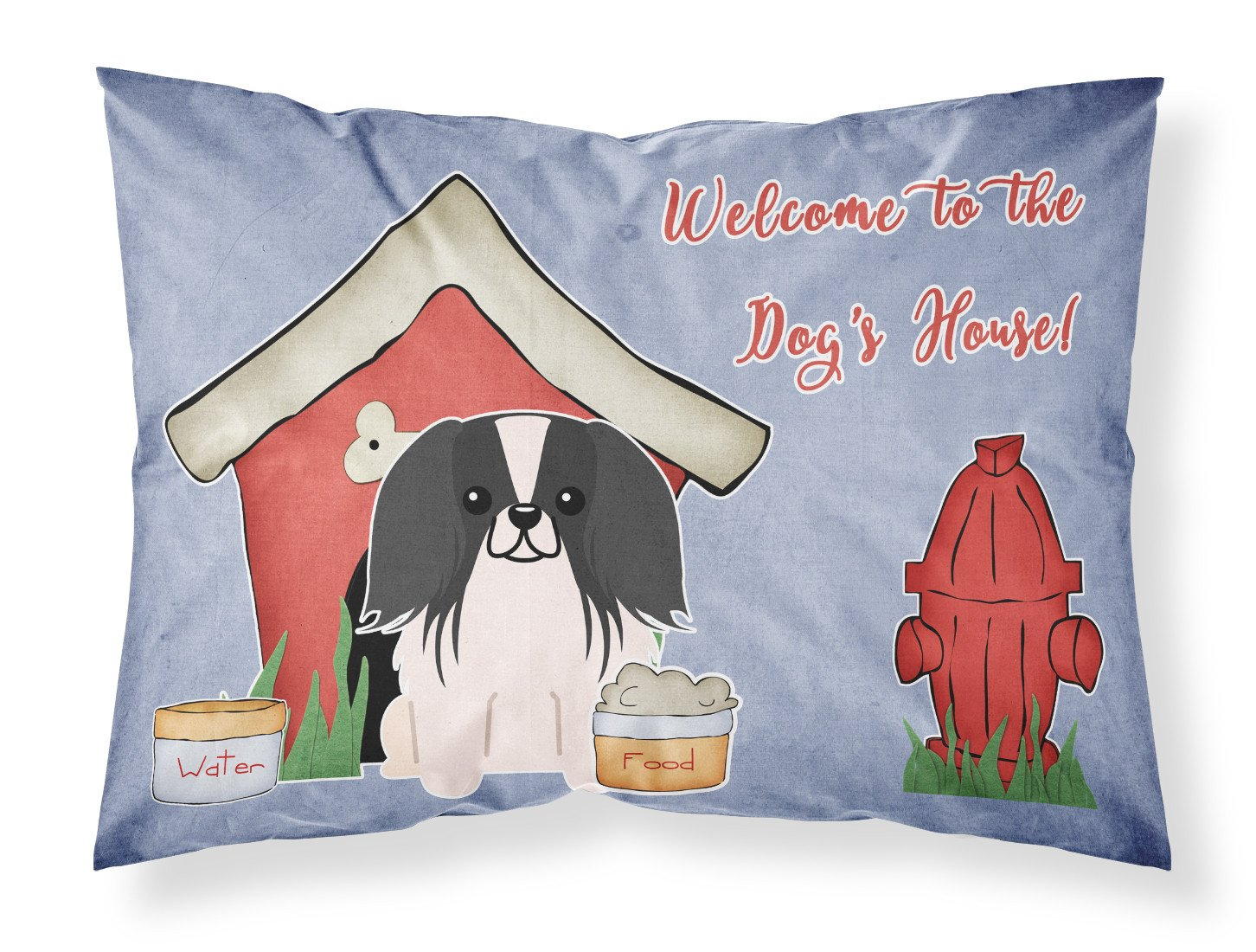 Dog House Collection Pekingnese Black White Fabric Standard Pillowcase BB2859PILLOWCASE by Caroline's Treasures