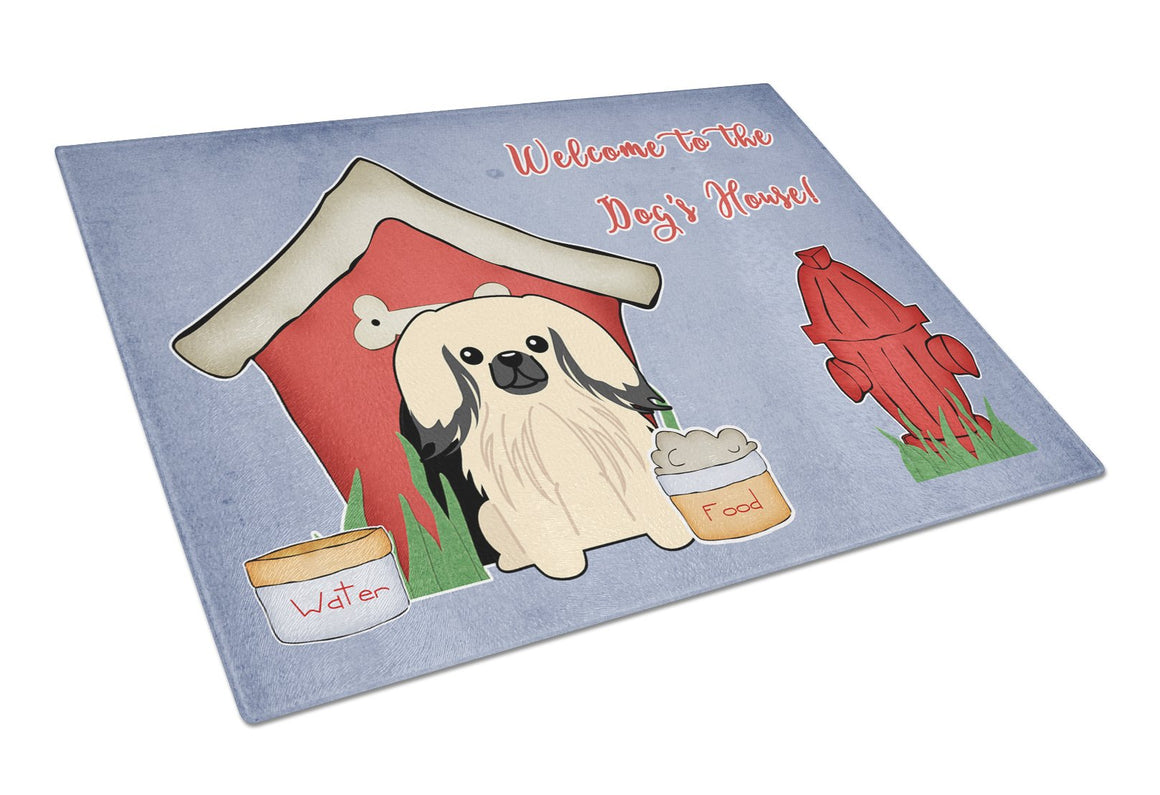 Buy this Dog House Collection Pekingnese Cream Glass Cutting Board Large BB2860LCB