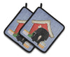 Buy this Dog House Collection Pekingnese Black Pair of Pot Holders