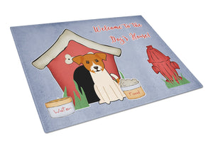 Buy this Dog House Collection Jack Russell Terrier Glass Cutting Board Large BB2862LCB