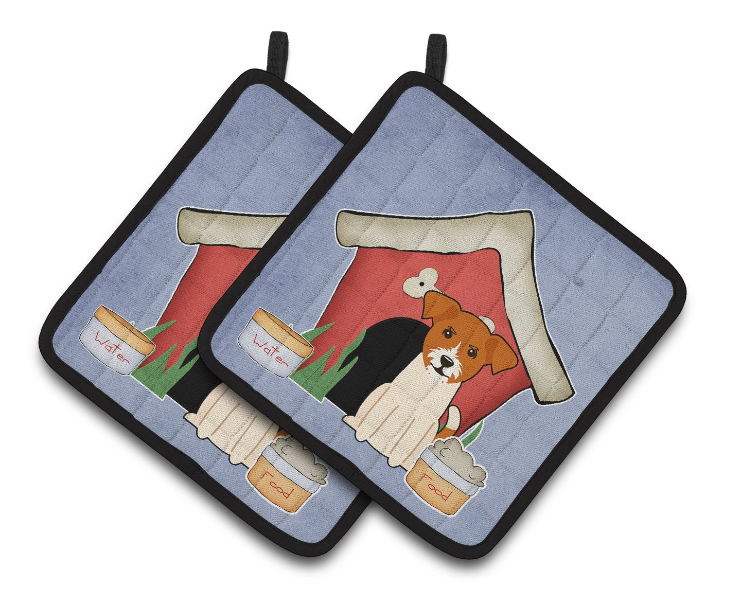 Buy this Dog House Collection Jack Russell Terrier Pair of Pot Holders