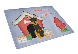 Buy this Dog House Collection English Toy Terrier Glass Cutting Board Large BB2863LCB