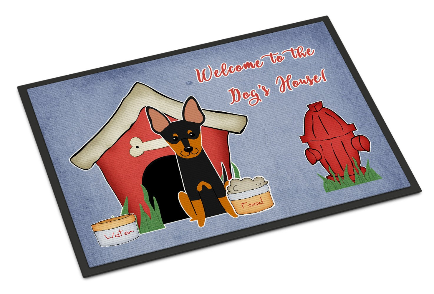 Dog House Collection English Toy Terrier Indoor or Outdoor Mat 18x27 BB2863MAT by Caroline's Treasures