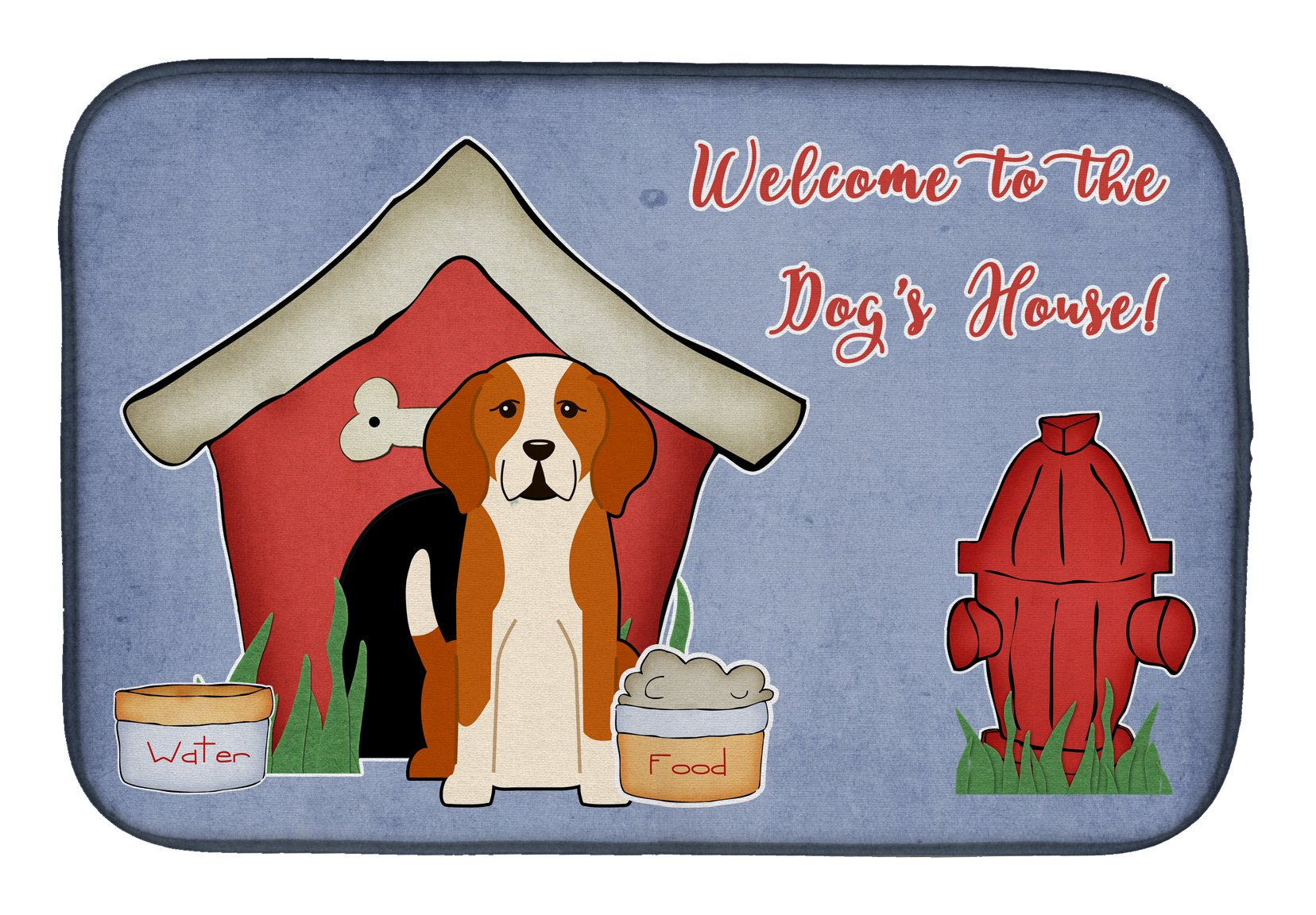 Dog House Collection English Foxhound Dish Drying Mat BB2864DDM by Caroline's Treasures