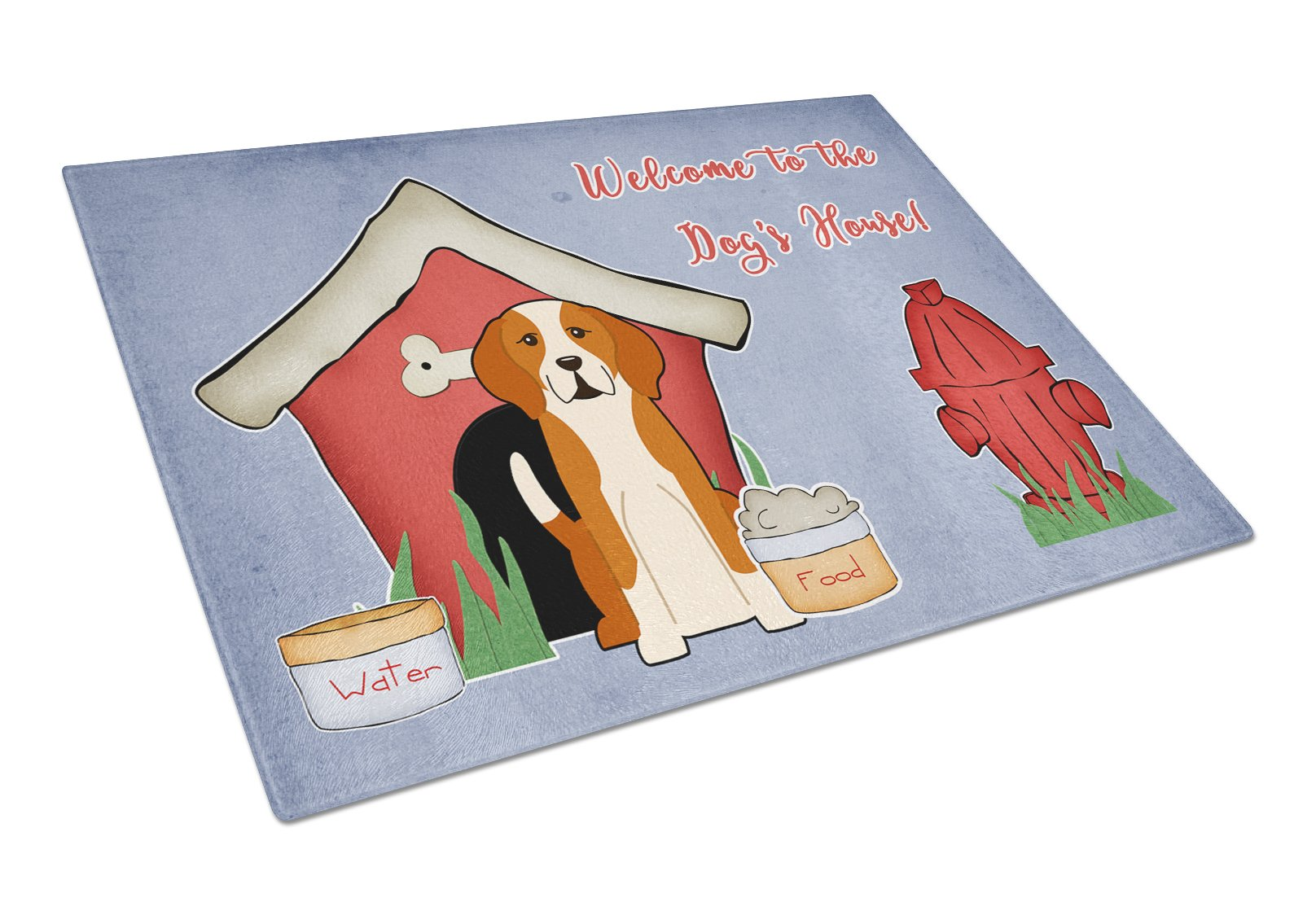 Dog House Collection English Foxhound Glass Cutting Board Large BB2864LCB by Caroline's Treasures
