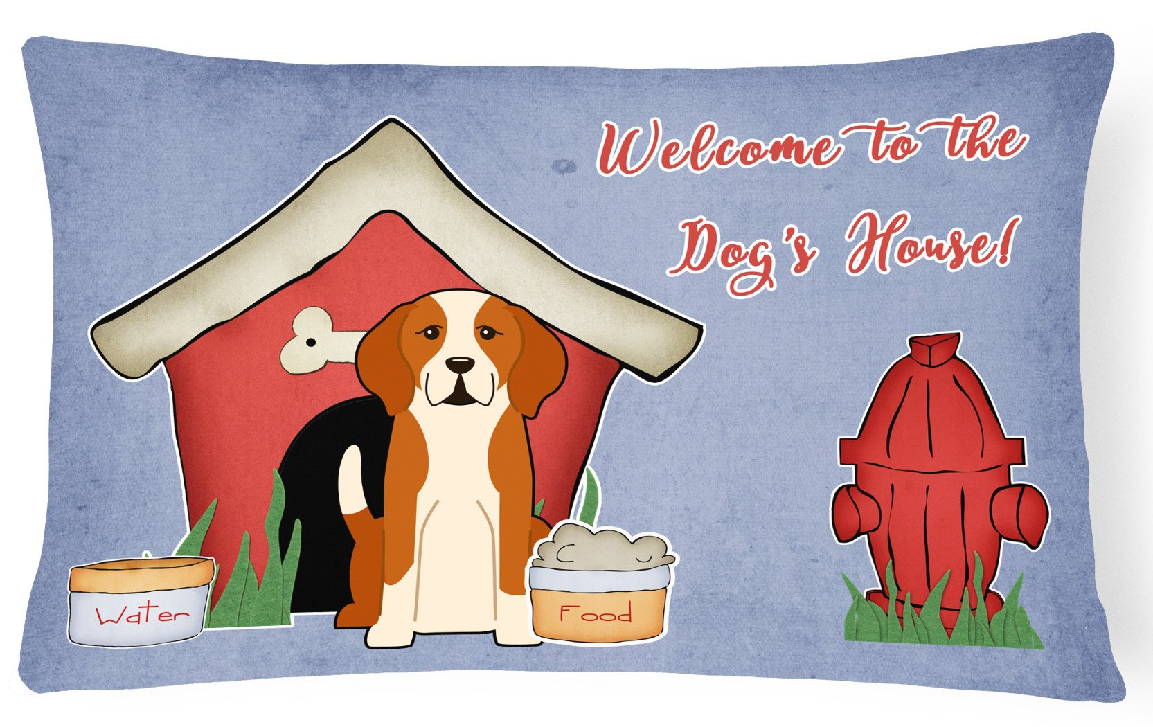 Dog House Collection English Foxhound Canvas Fabric Decorative Pillow BB2864PW1216 by Caroline's Treasures