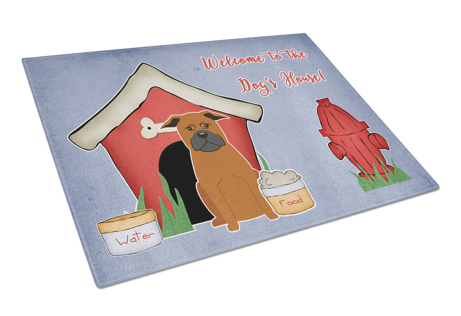 Buy this Dog House Collection Chinese Chongqing Dog Glass Cutting Board Large BB2865LCB