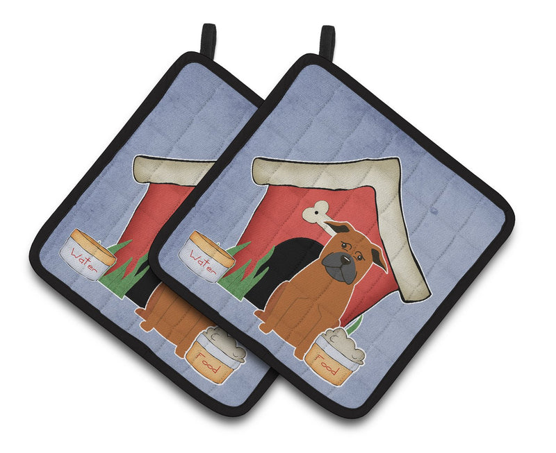 Buy this Dog House Collection Chinese Chongqing Dog Pair of Pot Holders