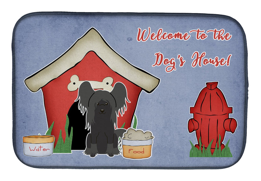 Buy this Dog House Collection Chinese Crested Black Dish Drying Mat BB2866DDM